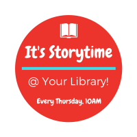 Storytime @ Your Library every Thursday at 10 am.